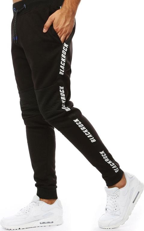 Czarne spodnie sportowe Dstreet z bawełny