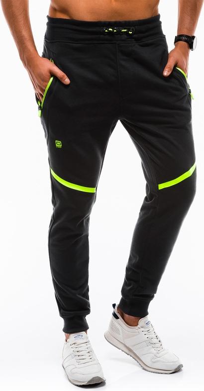 Czarne spodnie sportowe Edoti w sportowym stylu