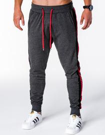 Czarne spodnie sportowe Ombre Clothing w street stylu