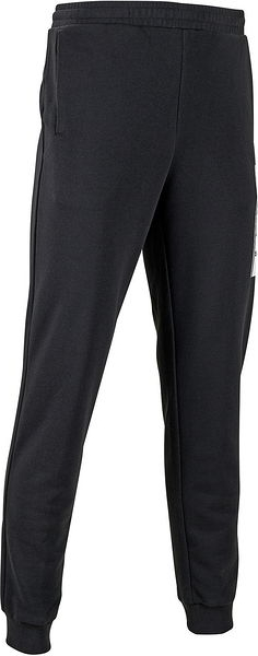 Czarne spodnie sportowe Puma w sportowym stylu z dresówki