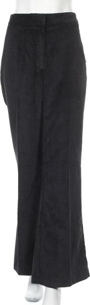 Czarne spodnie ZARA ze sztruksu