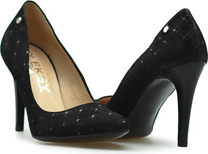 Czarne szpilki Oleksy na wysokim obcasie w stylu klasycznym na szpilce