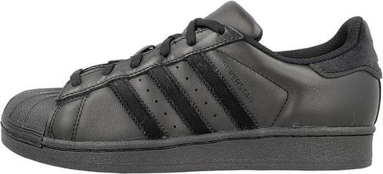 Czarne trampki Adidas sznurowane z płaską podeszwą