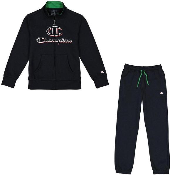 Czarny dres dziecięcy Champion z dzianiny