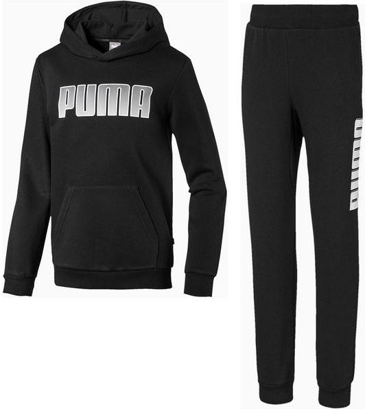 Czarny dres dziecięcy Puma z dzianiny
