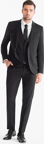 Czarny garnitur ANGELO LITRICO