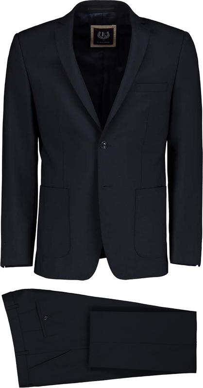 Czarny garnitur Lavard