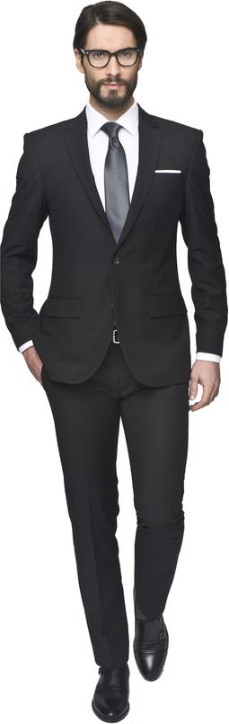 Czarny garnitur recman