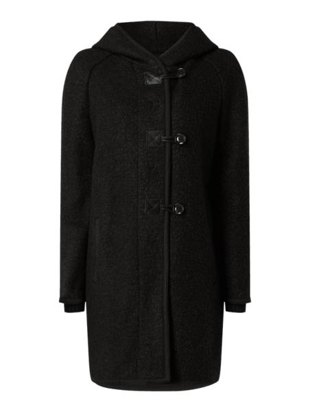 Czarny płaszcz comma, z wełny w stylu casual