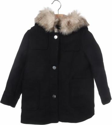 Czarny płaszcz dziecięcy Zara Kids