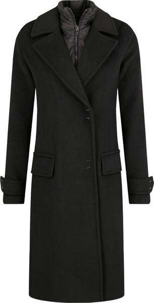 Czarny płaszcz Emporio Armani z wełny