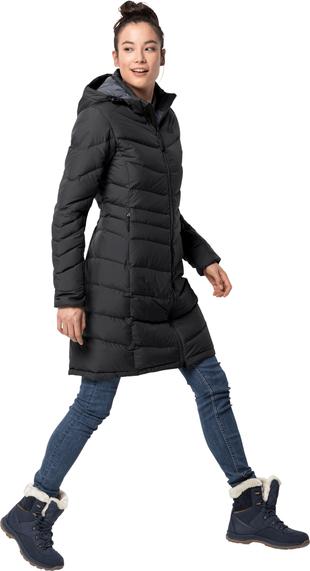 Czarny płaszcz Jack Wolfskin w stylu casual