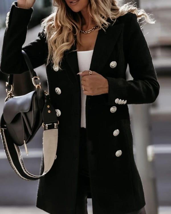 Czarny płaszcz Kendallme