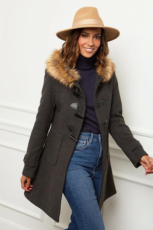 Czarny płaszcz Le Comptoir Du Manteau w stylu casual