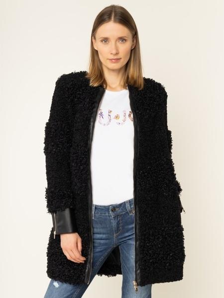 Czarny płaszcz Liu-Jo