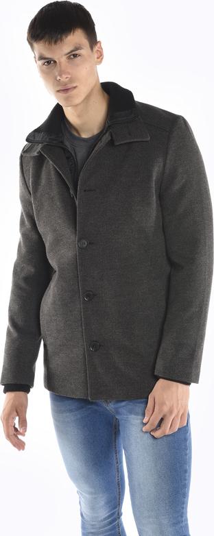 Czarny płaszcz męski Gate