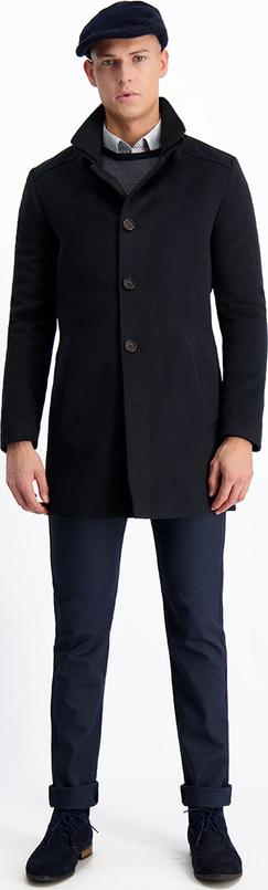 Czarny płaszcz męski Lavard