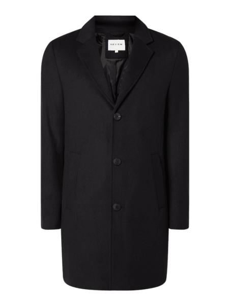Czarny płaszcz męski Review
