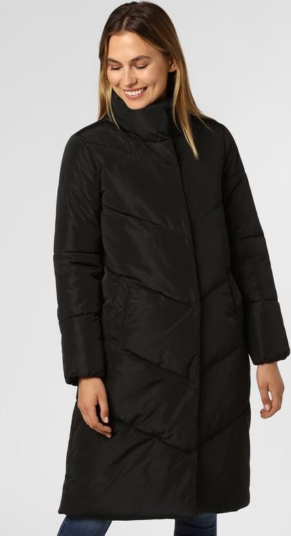 Czarny płaszcz More & More w stylu casual