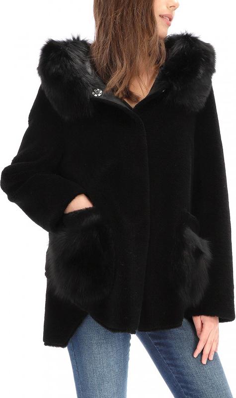 Czarny płaszcz Pregio Couture