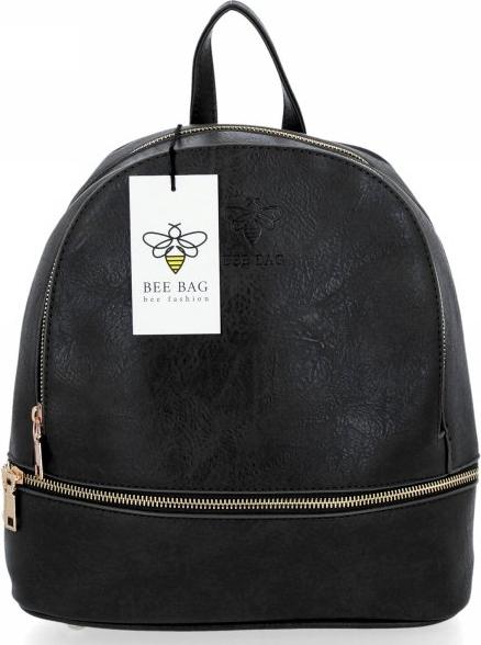 Czarny plecak Bee Bag ze skóry ekologicznej
