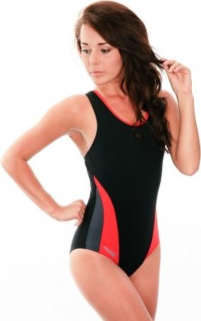 Czarny strój kąpielowy Aqua-Speed
