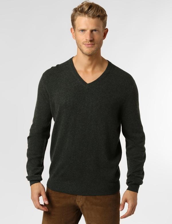 Czarny sweter Andrew James z wełny