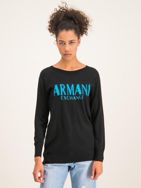 Czarny sweter Armani Jeans w stylu casual