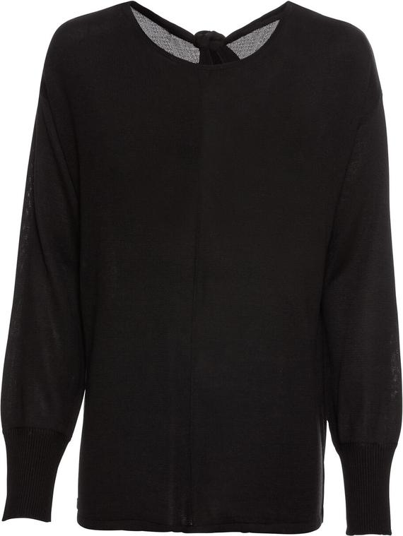 wylot Czarny sweter bonprix BODYFLIRT Odzież Damskie Swetry i bluzy damskie IL CUXPIL-9