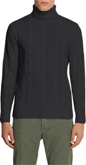 Czarny sweter Daniele Alessandrini z wełny w stylu casual