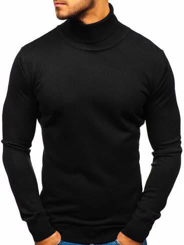 Czarny sweter Denley z bawełny