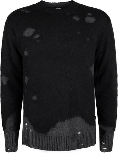 Czarny sweter Diesel z dzianiny