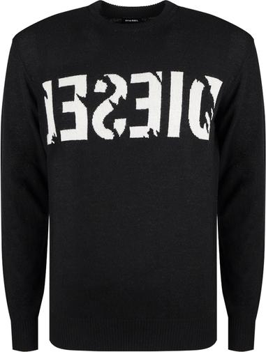 Czarny sweter Diesel z wełny