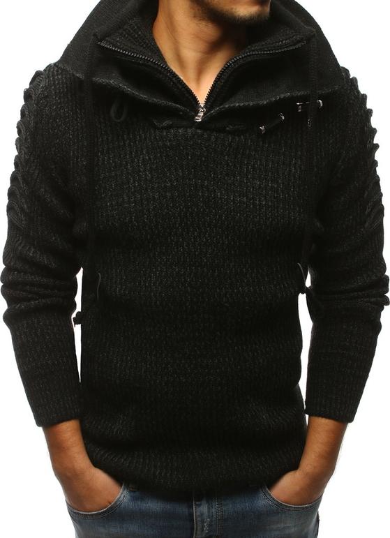 Czarny sweter Dstreet w stylu casual z wełny