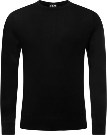 Czarny sweter EA7 Emporio Armani