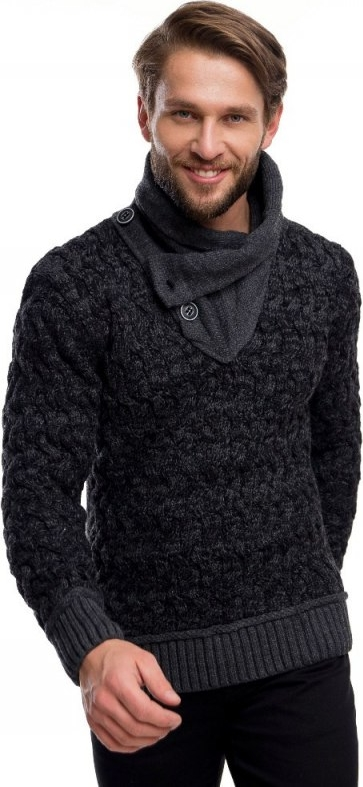 Czarny sweter eleger