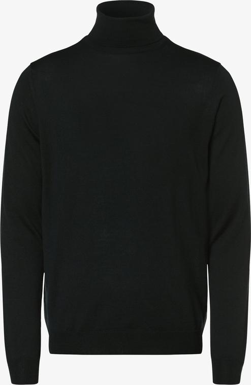 Czarny sweter Finshley & Harding w stylu casual z wełny