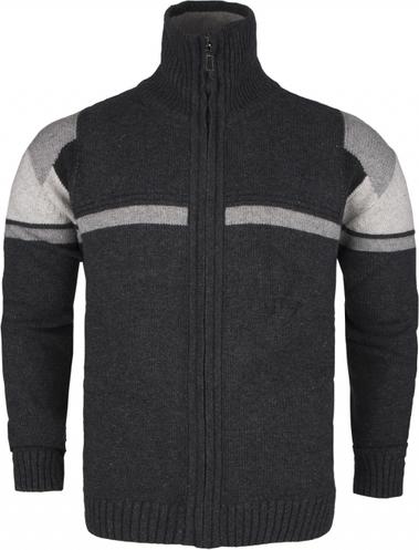 Czarny sweter Hajo w geometryczne wzory