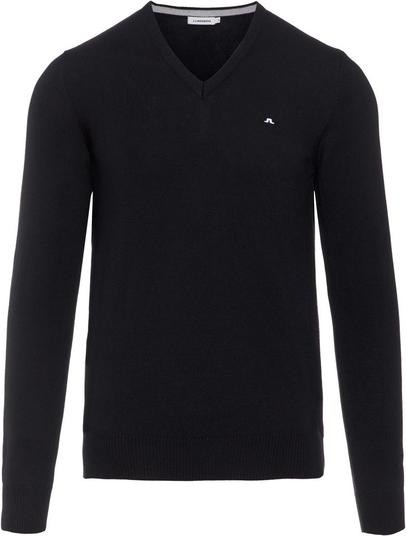 Czarny sweter J. Lindeberg z wełny