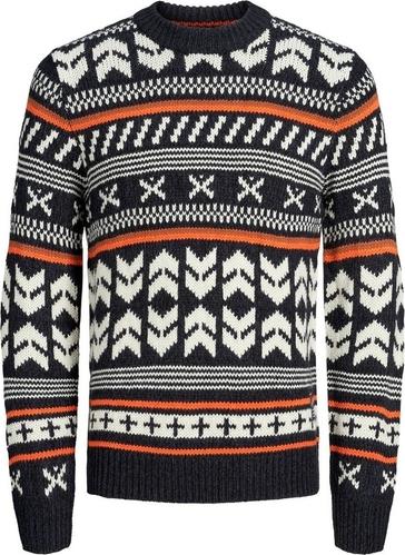 Czarny sweter Jack & Jones w młodzieżowym stylu z bawełny