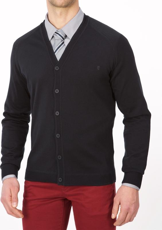 Czarny sweter Lanieri w stylu casual z bawełny