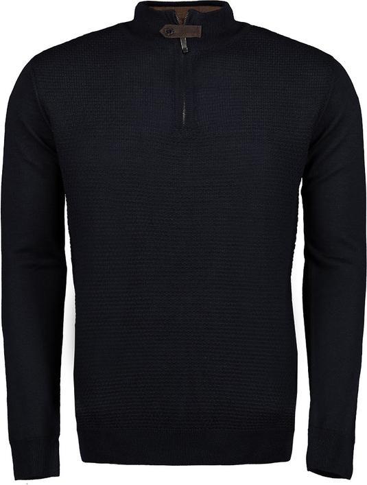 Czarny sweter Lavard z wełny