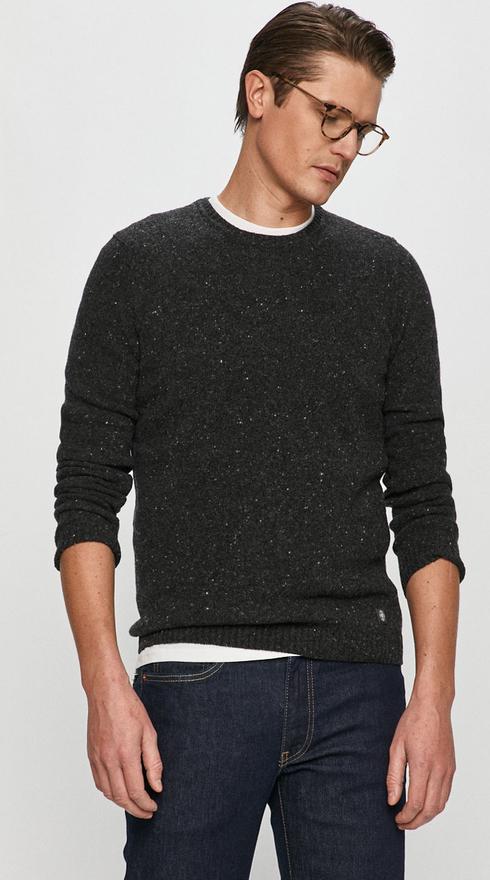 Czarny sweter Marc O'Polo z dzianiny w stylu casual
