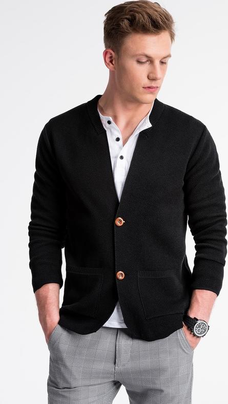 Czarny sweter Ombre_Premium