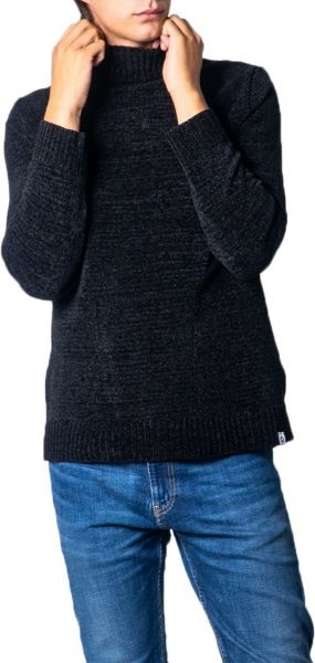 Czarny sweter Over-d w stylu casual