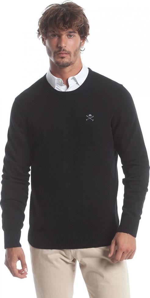 Czarny sweter Polo Club C.h.a