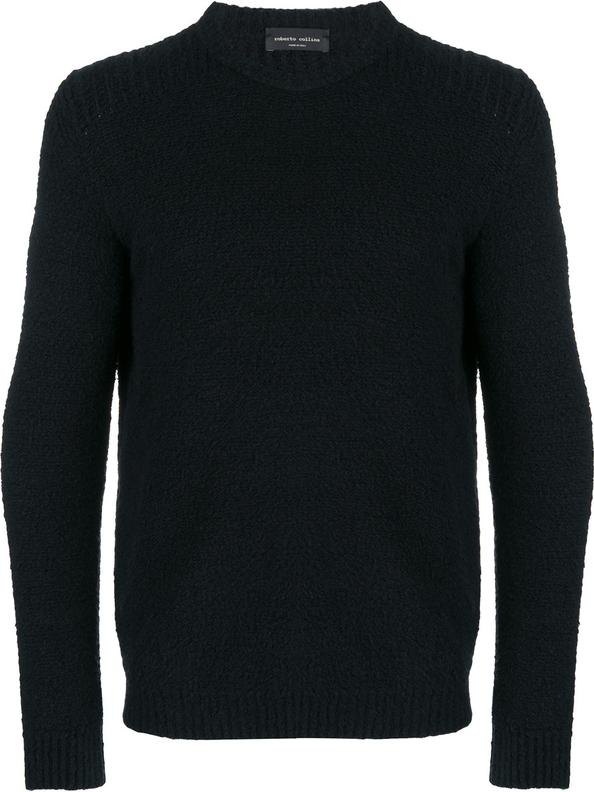 Czarny sweter Roberto Collina