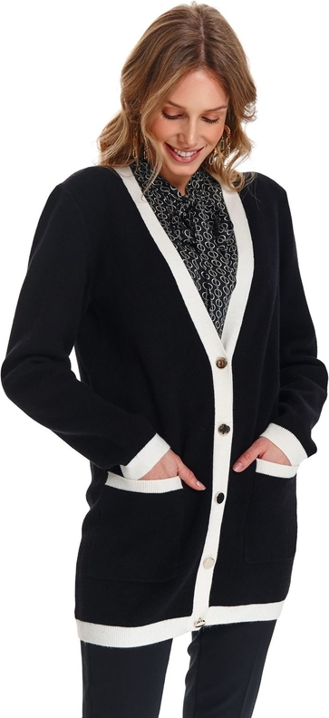 Czarny sweter Top Secret w stylu casual