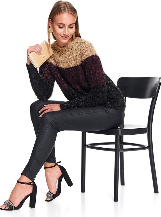 Czarny sweter Top Secret z dzianiny w stylu casual
