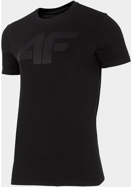 Czarny t-shirt 4F w sportowym stylu z krótkim rękawem